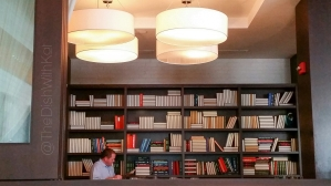 The Library in the restaurant is available for private events and can accompany up to 50 people.