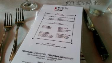 Medium Rare's $24 prix fixe menu is inclusive of alcoholic and non-alcoholic drinks.