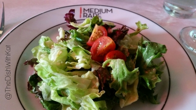 The side salad was simple, yet delicious and featured a dijon vinaigrette.