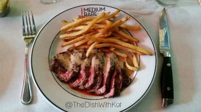 Medium Rare's classic Steak Frites featured a secret sauce, which was lighter than the traditional béarnaise sauce.