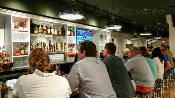 Hank's bar is a modern take on a nautical theme.