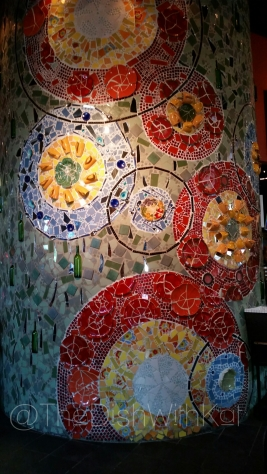 Rustico carries a mosaic tile theme aroud the restaurant.