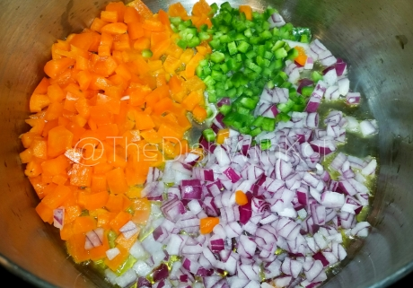 Cook the aromatics until soft and fragrant