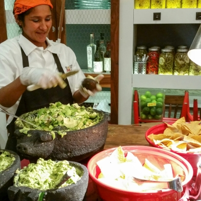 Delicious, homemade Guacamole is prepared at the Butchers Table.