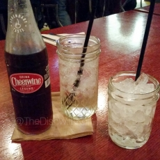 All great southern restaurants should serve Cheerwine and use mason jars as glasses!