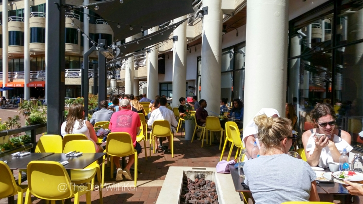 Farmers, Fishers & Bakers offers a nice patio for diners during warm months.