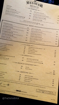Succotash's brunch menu boasts some of the south's most popular dishes with their own twist, of course.