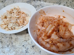 Season protein with Chili Garlic Sauce if you like spice or Soy Sauce if you prefer it milder.